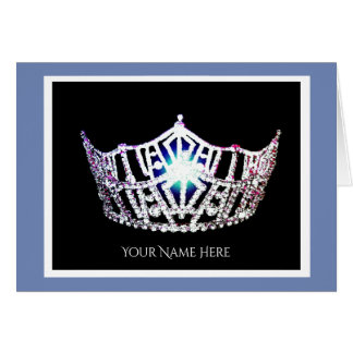 Miss America Silver Crown Thank You Card-Printed Card