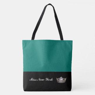 Miss America Silver Crown Tote Bag-Large Bahama