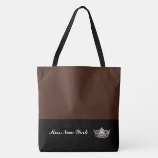 Miss America Silver Crown Tote Bag-Large BT Sienna