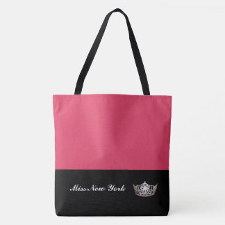 Miss America Silver Crown Tote Bag-Large Geranium
