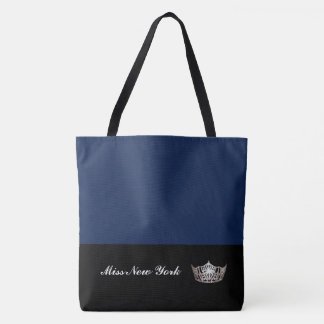 Miss America Silver Crown Tote Bag-Large Navy