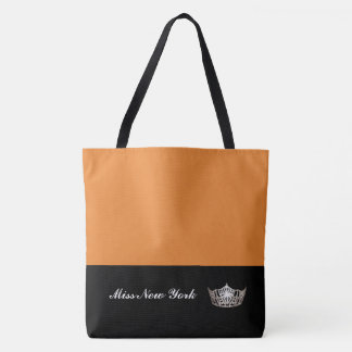 Miss America Silver Crown Tote Bag-Large Orange