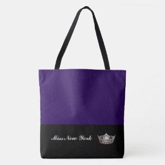 Miss America Silver Crown Tote Bag-LRGE Blackberry