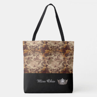 Miss America Silver Crown Tote Bag LRGE Brown Camo