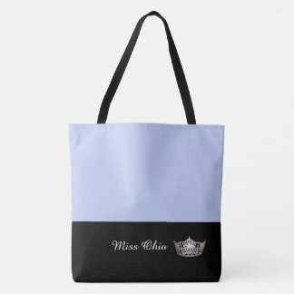 Miss America Silver Crown Tote Bag LRGE Frost