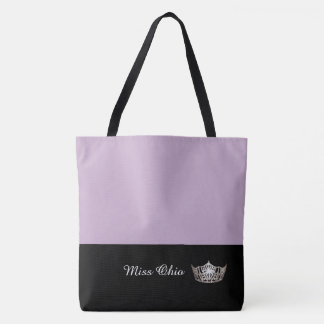 Miss America Silver Crown Tote Bag LRGE Lilac