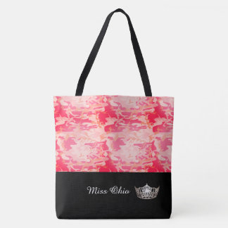 Miss America Silver Crown Tote Bag LRGE Red Camo