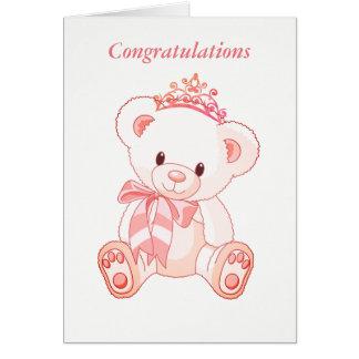 Miss America style Bear & Tiara Card-Congrats Card