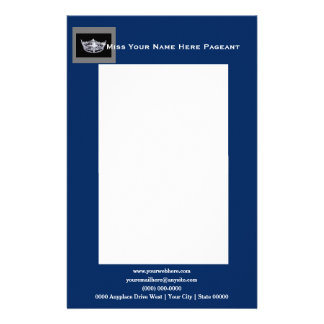 Miss America style Bold Boxes Letterhead Custom Stationery