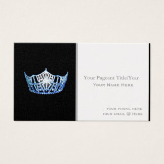 Miss America style Crown Custom Business Cards