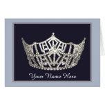 Miss America style Crown Custom Note Card