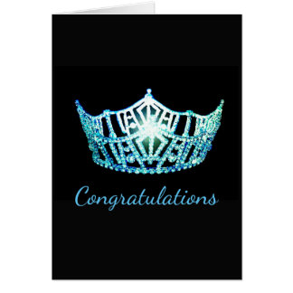 Miss America style Crown Greeting Card-Congrats Card