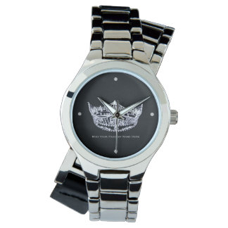 Miss America style Custom Crown Wrap Around Watch