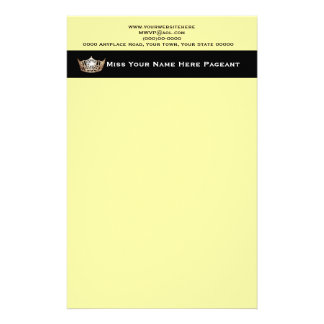 Miss America style Custom Letterhead Stationery Design