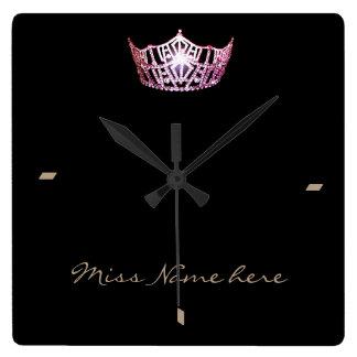 Miss America style Pink Crown Clock