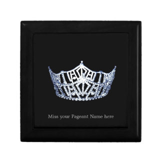 Miss America style Silver-Blue Crown Trinket Box