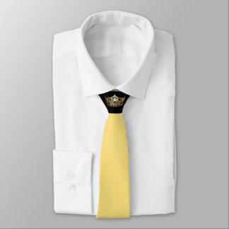Miss America Two-Tone Lt. Yellow Crown Men's Tie