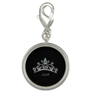 Miss America USA Rodeo Silver Tiara SP Charm-Date