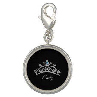 Miss America USA Rodeo Silver Tiara SP Charm-Name