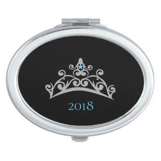 Miss America USA Silver Crown Compact Mirror-Name Vanity Mirror