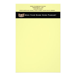 Miss America USA style Custom Letterhead Customized Stationery