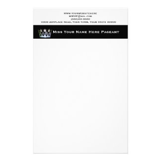 Miss America USA style Custom Letterhead Stationery Design