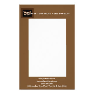 Miss America USAstyle Bold Boxes Custom Letterhead Customised Stationery