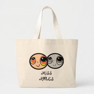 Miss Apples Cartoon Tote. Jumbo Tote Bag