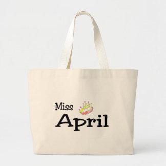 Miss April Jumbo Tote Bag