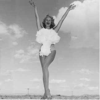 Miss Atomic Bomb 1957 Statue Photo Cut Outs