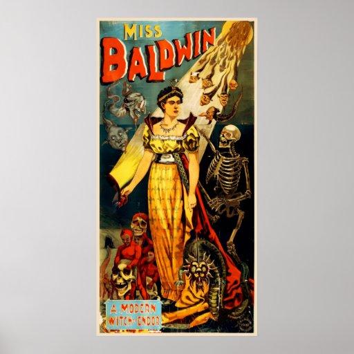 Miss Baldwin Vintage Magic Poster