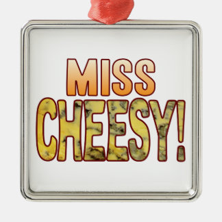 Miss Blue Cheesy Silver-Colored Square Decoration