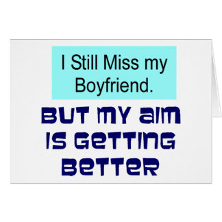 Miss Boyfriend Greeting Card