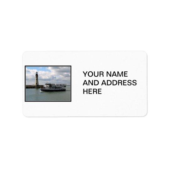 Miss Buffalo & Buffalo Main Lighthouse Address Label