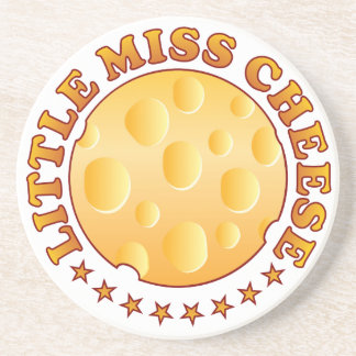Miss Cheese Brown Drink Coaster