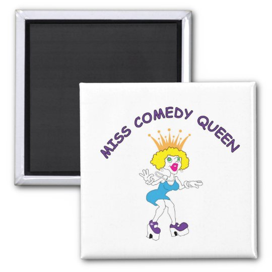 Miss Comedy Queen Square Magnet