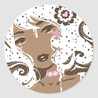 Miss Cookies-n-cream Classic Round Sticker