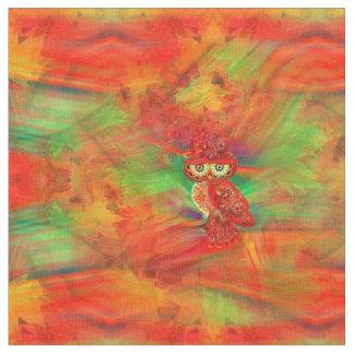 Miss Extravagance Fall Fashion Owl Fabric