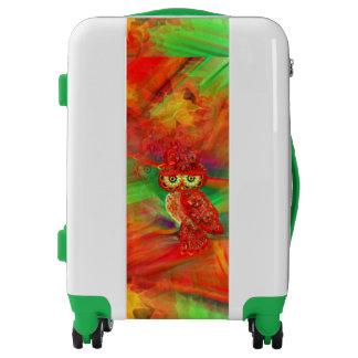 Miss Extravagance Fall Fashion Owl Luggage