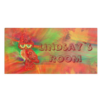 Miss Extravagance Fall Fashion Owl Room Sign Door Sign