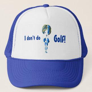 Miss-fit Blue Bling Girl Digital Art Trucker Hat