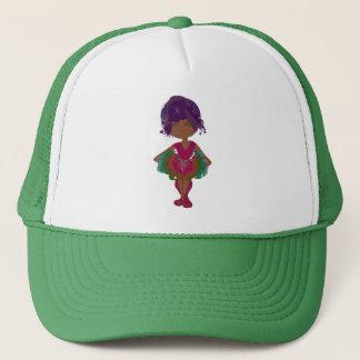 Miss-fit Coco Pink and Green Tutu Ballerina Art Trucker Hat