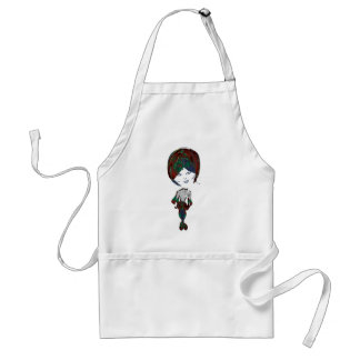 Miss-fit Emo Girl Digital Art Standard Apron
