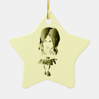 Miss-fit Faith digital girl art Ornament