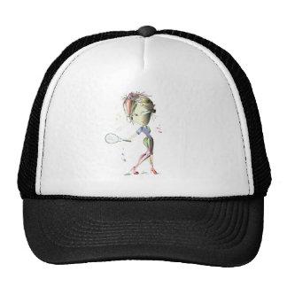 Miss-fit Girl Plays Tennis Cap Hat
