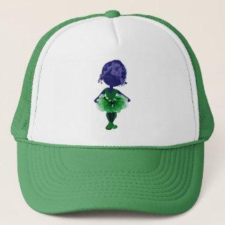 Miss-fit Green tutu Ballerina digital art Trucker Hat