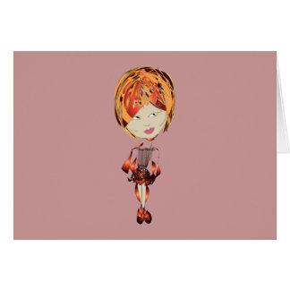 Miss-fit Jenny Digital Girl Art Card