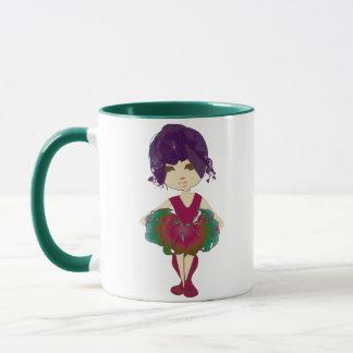 Miss-fit Pink and Green Tutu Ballerina Art Mug