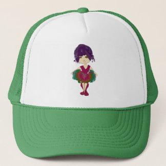 Miss-fit Pink and Green Tutu Ballerina Art Trucker Hat