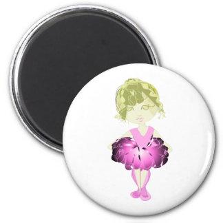 Miss-fit Pink Ballet Dancer Girl 6 Cm Round Magnet